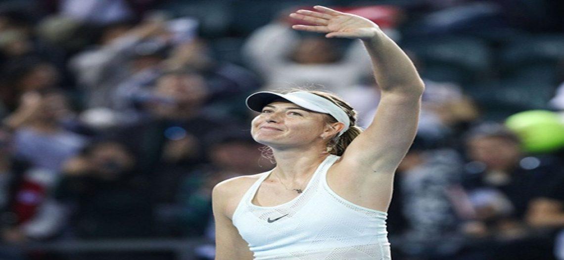 Sharapova mantiene buen paso en China