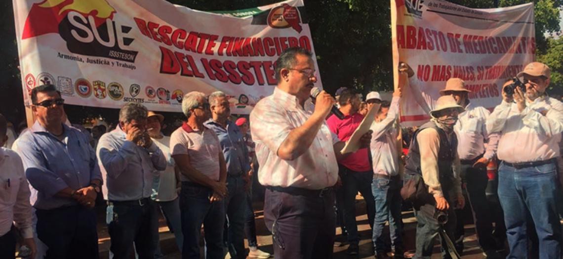 Sospechosa protesta contra Isssteson