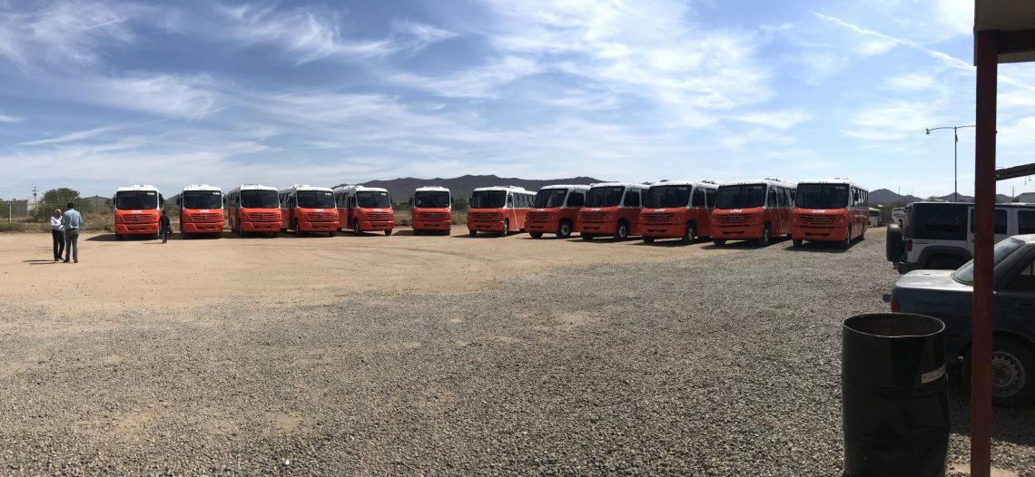 Llegan camiones nuevos de trasporte público a Hermosillo