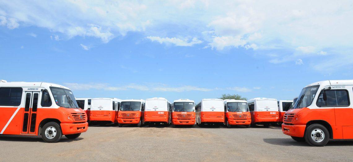 Llegan 45 camiones más al nuevo Sistema de Transporte