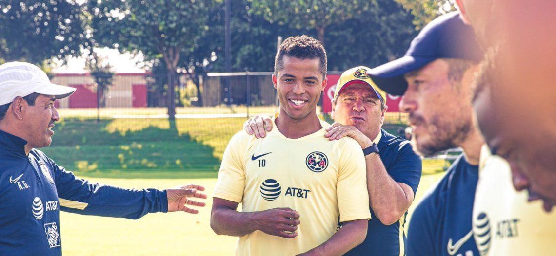 Giovani dos Santos ya entrena al parejo con el América