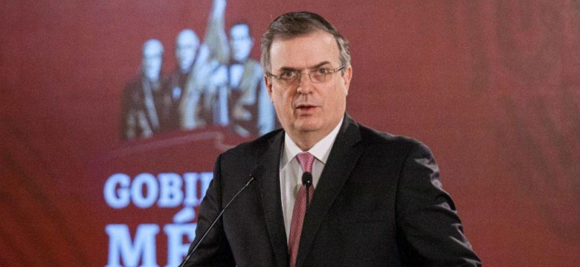 Confirma Ebrard caída de 39.2% del flujo migratorio