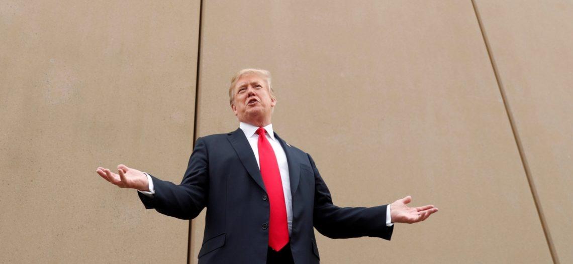 Muro en la frontera con México 'va muy bien', asegura Trump