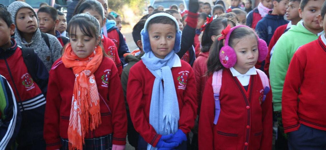 Por frío modificarán horario de clases en educación Básica en Sonora