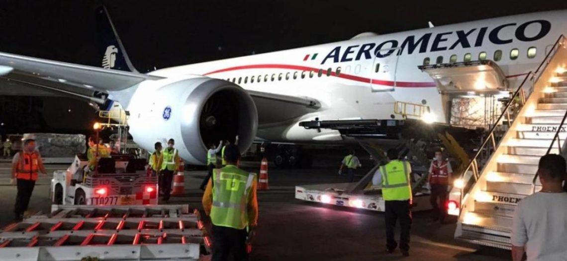 Llega cuarto avión con insumos provenientes de China