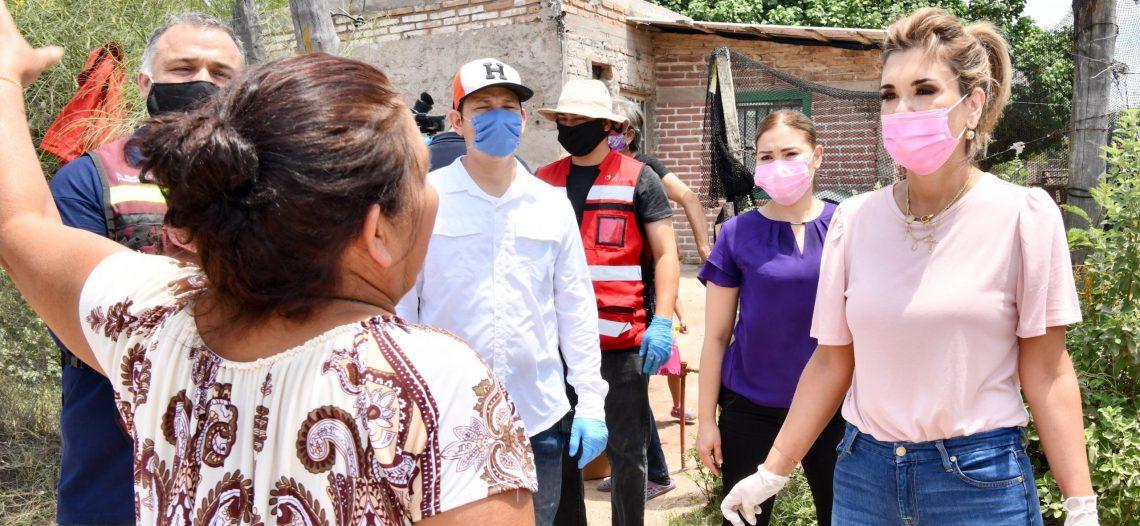 Lleva Gobernadora paquetes de seguridad alimentaria a familias de Empalme