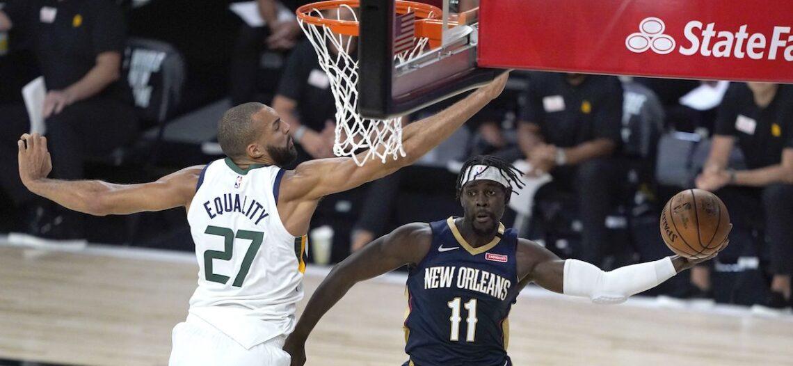 Jazz se impone a Pelicans en reanudación en la NBA