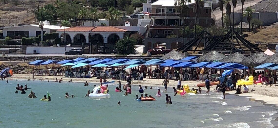 Gran aglomeración de personas se registró este fin de semana en Miramar y Bahía de Kino