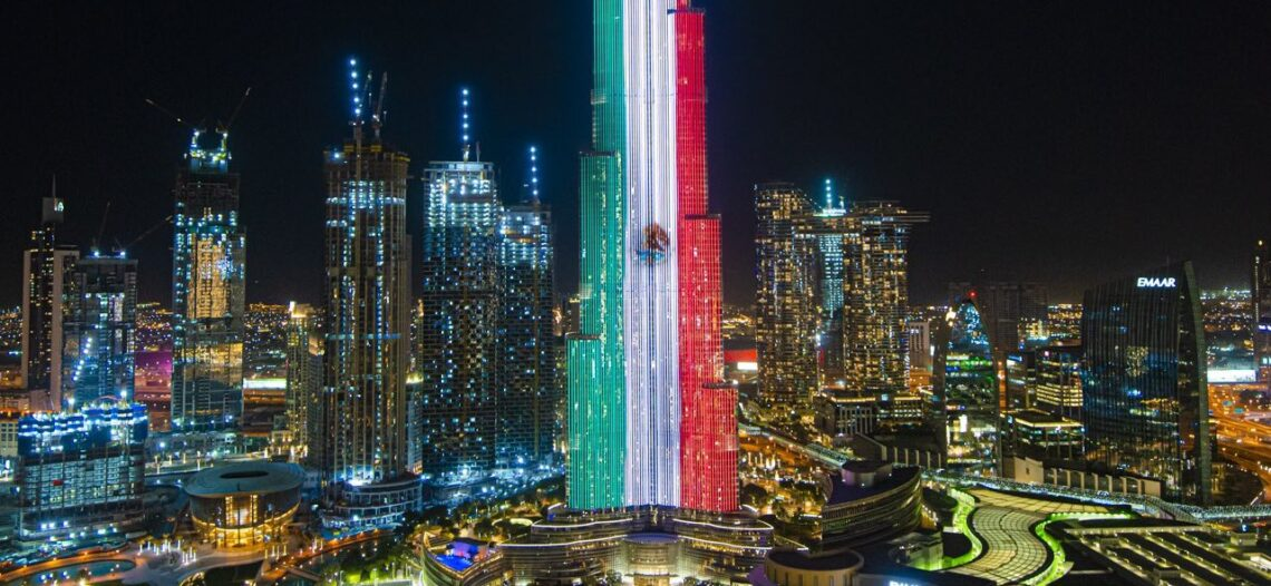 Edificio Burj Khalifa de Dubai se ilumina en honor a México