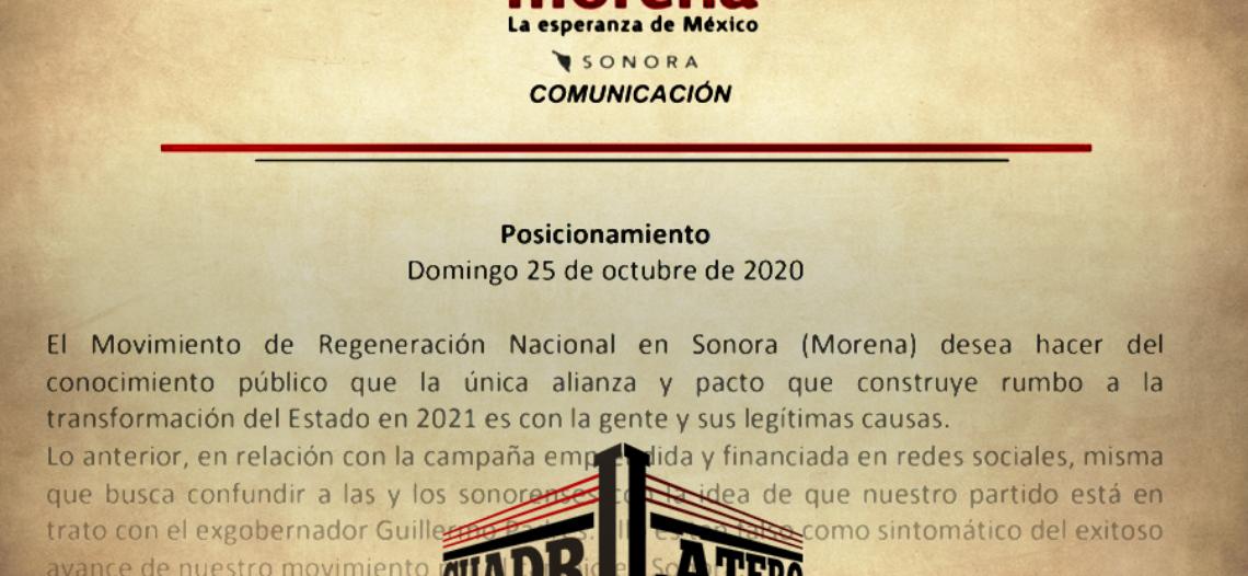 Morena niega alianza con Guillermo Padrés Elías