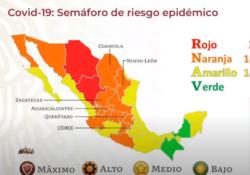 Seis entidades, en riesgo de pasar al semáforo rojo; dos estados están en verde