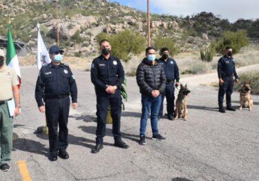 Certifican a unidad canina K9 de PESP Sonora