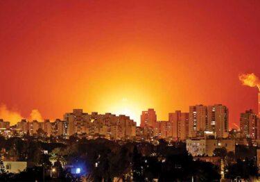 Horas de bombardeos en la franja de Gaza