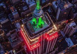 El mundo celebra, edificios se iluminan por la Independencia de México