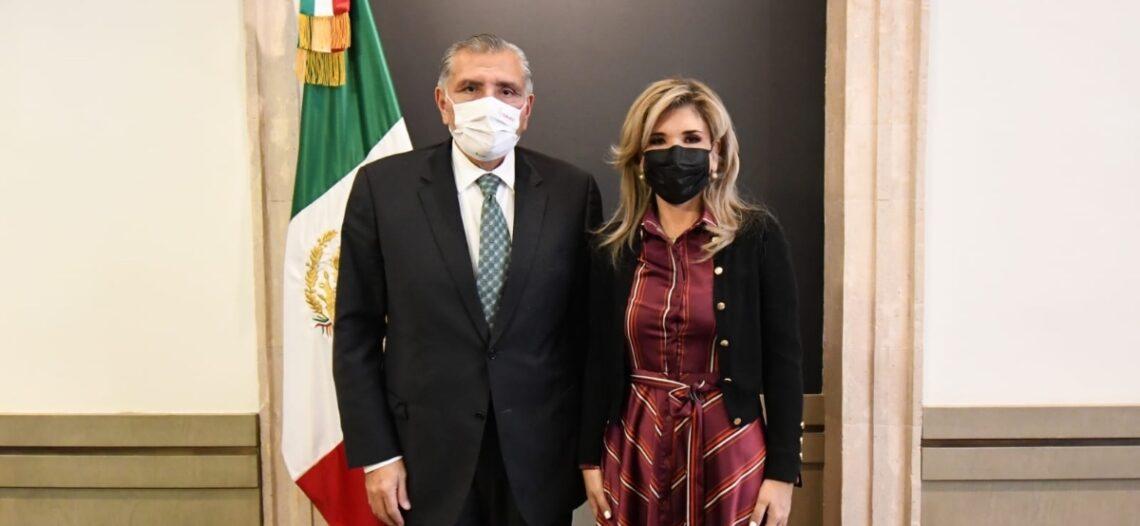 Se reúne Gobernadora con titulares de Gobernación y de Seguridad y Protección Ciudadana