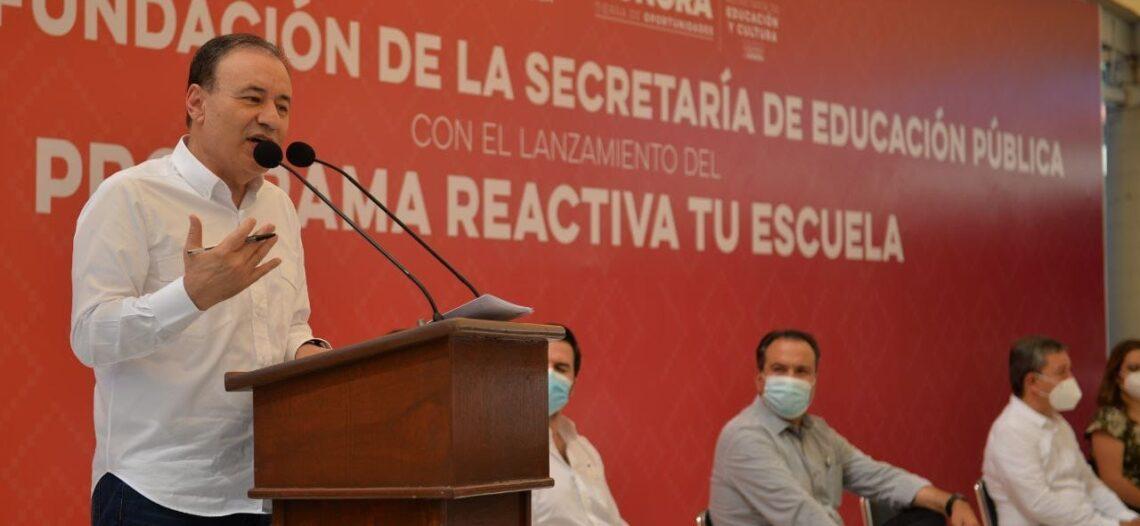 Con «Reactiva tu escuela» buscaremos acondicionar todos los planteles antes de fin de año: Alfonso Durazo