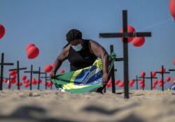 Brasil registra otras 530 muertes por covid; se acerca a los 600 mil decesos